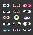 eyes set funny comic monster vector image