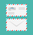 flat style of postal envelope vector image