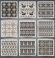 set of seamless knitted patterns vector image