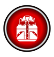Waistcoat sketch icon vector image