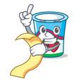 with menu yogurt mascot cartoon style vector image