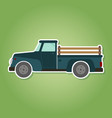 icon with farm truck vector image