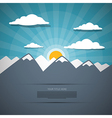 Mountain Abstract Background vector image