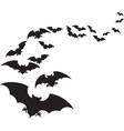 a flock bats vector image vector image