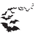 A Flock of Bats vector image vector image