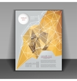 Abstract brochure design with geometric patterns vector image vector image