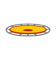 amusement trampoline icon flat style vector image