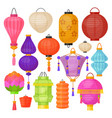 asian paper traditional bright colorful lantern vector image