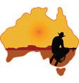 Australian Cowboy vector image vector image