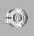bank door vault door vector image