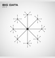 big data visualization connection structure vector image