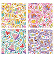birthday party seamless pattern anniversary vector image vector image