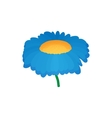 Blue flower icon cartoon style vector image vector image