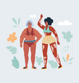 body positive anti ageism vector image