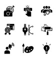 business start up icon set simple style vector image