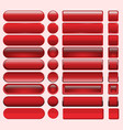 buttons red many for website design vector image vector image