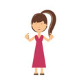 cartoon girl icon image vector image