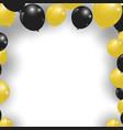 celebration festive gold and black balloons vector image