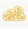 cloud money get make save online internet dollar vector image