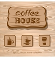 Cofee house Icon collection vector image