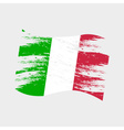color italy national flag grunge style eps10 vector image