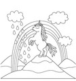 coloring book for kids with a beautiful unicorn