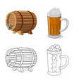 design of pub and bar sign collection of vector image vector image
