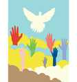 Dove and Hands vector image