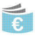 euro checkbook halftone icon vector image vector image