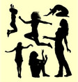 female gesture silhouette vector image vector image