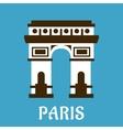 flat arch triumph icon vector image