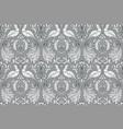 floral vintage seamless pattern wit birds vector image