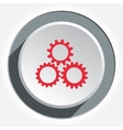 Gear icon Cogwheel industrial symbol Red sign on vector image