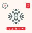 geometric arabic pattern logo for your design