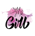 girl calligraphy lettering vector image vector image