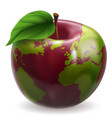 globe apple concept vector image