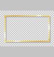 gold frame square with golden border framework vector image vector image
