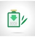 Green medicine flat color icon vector image