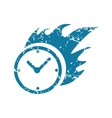 Grunge burning clock icon vector image vector image