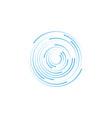 halftone circle dots vector image vector image