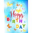 happy birthday backdrop vector image vector image