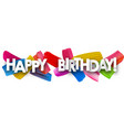 happy birthday banner with brush strokes vector image vector image