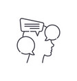 internal dialogue line icon concept internal vector image vector image