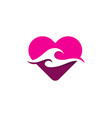 love wave logo icon design vector image vector image