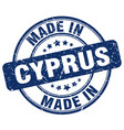 made in cyprus blue grunge round stamp vector image vector image