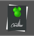 merry christmas hanging ball poster template vector image vector image