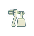 paint sprayer concept colored modern icon or sign vector image vector image