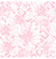 pink seamless pattern for romantic valentines day vector image vector image