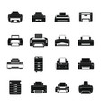 printer office copy document icons set simple vector image vector image
