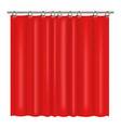 realistic detailed 3d blank red shower curtains vector image vector image